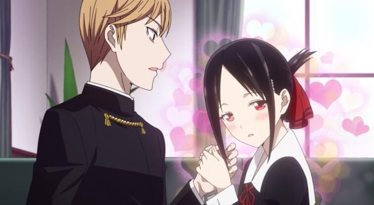 Miyuki Shirogane and Kaguya Shinomiya of Kaguya-sama: Love is War