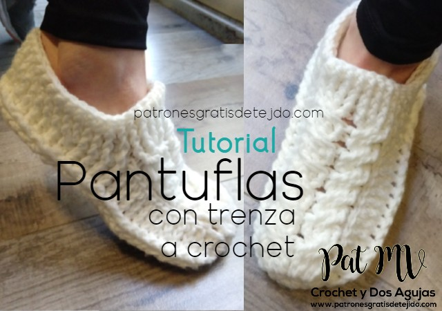 Pantuflas Con Trenzas Tejidas A Crochet Tutorial En Video
