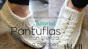 Pantuflas con trenzas tejidas a crochet | Tutorial en video