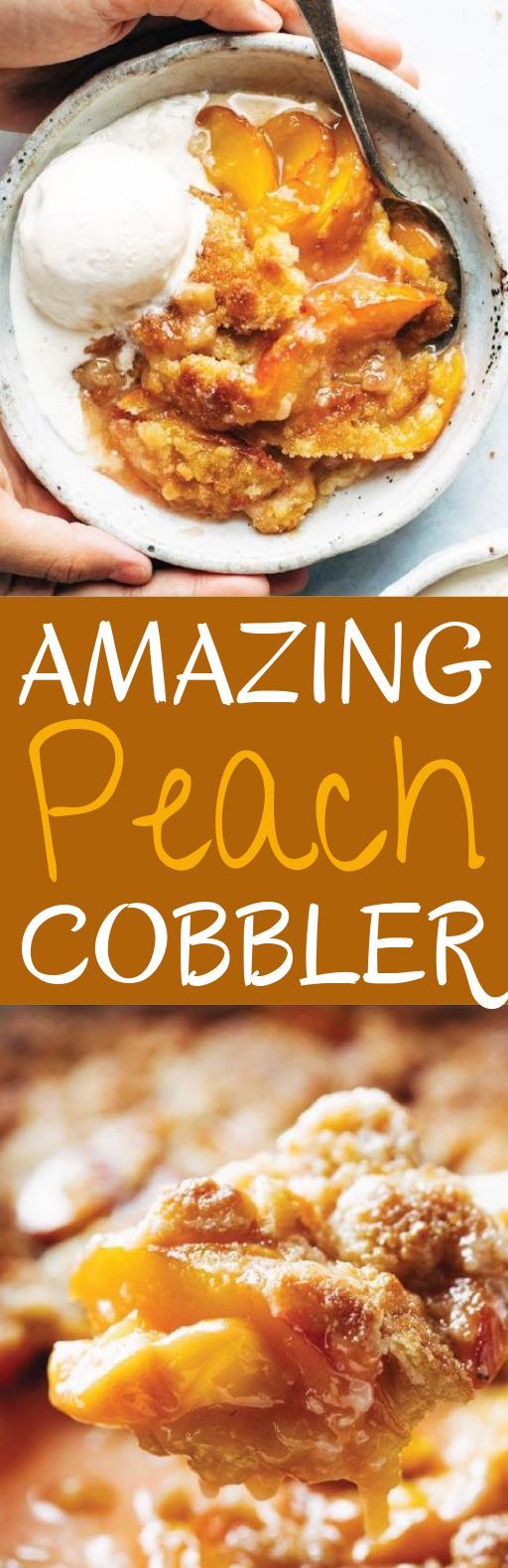 Amazing Peach Cobbler #summer #desserts