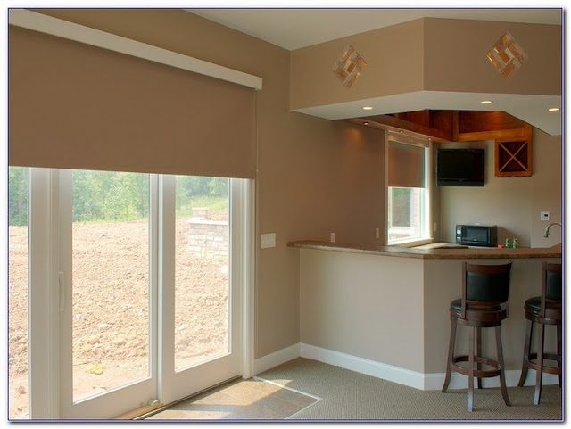pictures of window treatments for sliding glass doors in kitchen