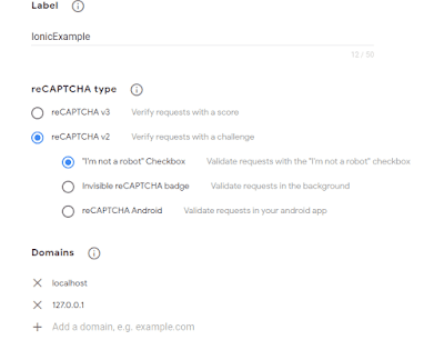 Menambahkan Recaptcha di aplikasi Ionic 4