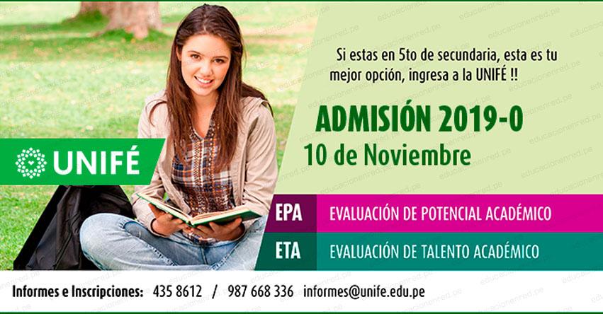 Resultados UNIFE 2019-0 (10 Noviembre) Lista Ingresantes Examen Admisión - EPA - ETA - Universidad Femenina del Sagrado Corazón - www.unife.edu.pe