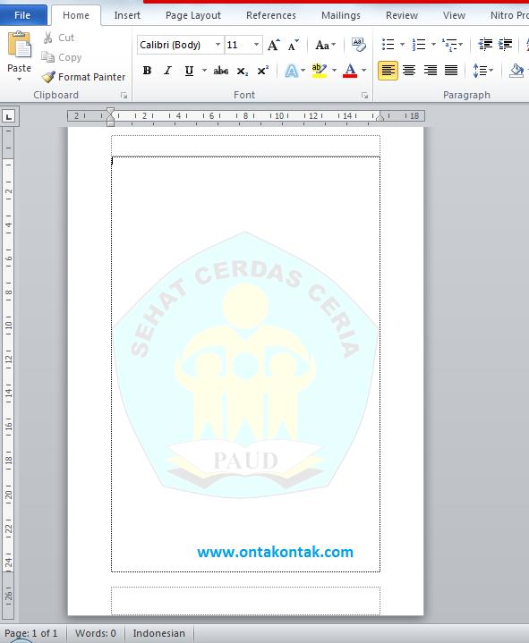 Cara Membuat Watermark Di Word 2007 : membuat, watermark, Membuat, Watermark, Gambar, Ontak