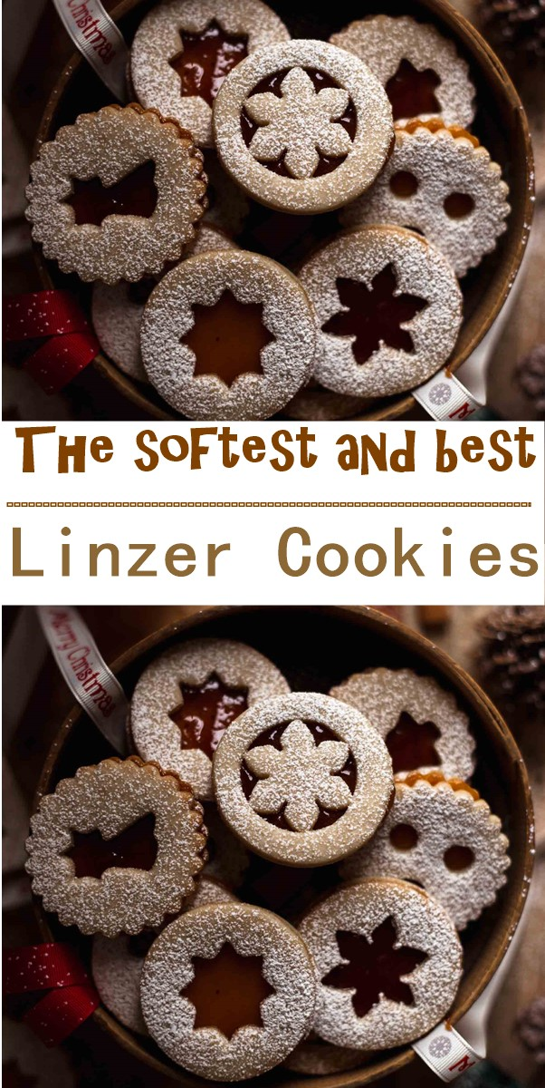 The softest and best Linzer Cookies #cookiesrecipes