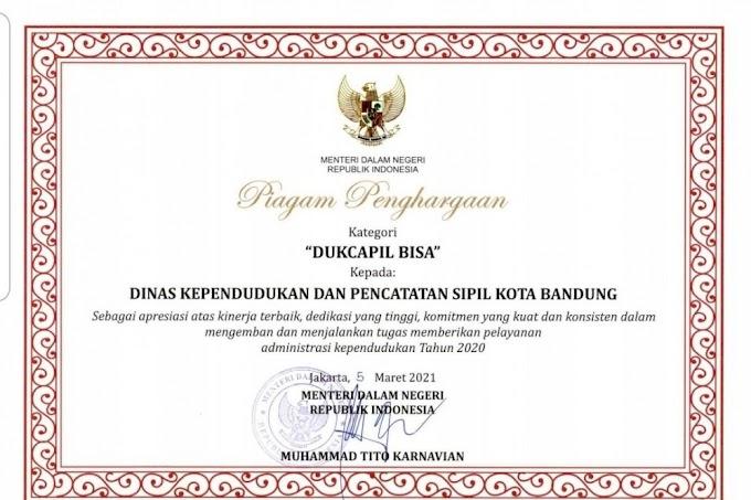 Layanan Kependudukan di Kota Bandung, Salah Satu Terbaik Se-Indonesia