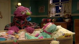 Humphrey sings a lullaby to Natasha. Sesame Street Bedtime with Elmo