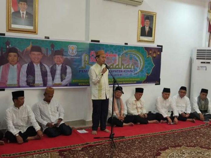 Bupati Kerinci Adirozal Buka Safari Ramadhan Pemkab Kerinci Tahun 1440 H
