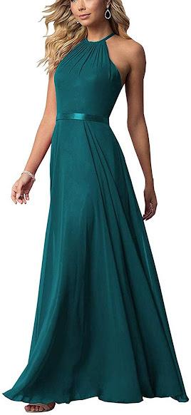 Cheap Teal Chiffon Bridesmaid Dresses