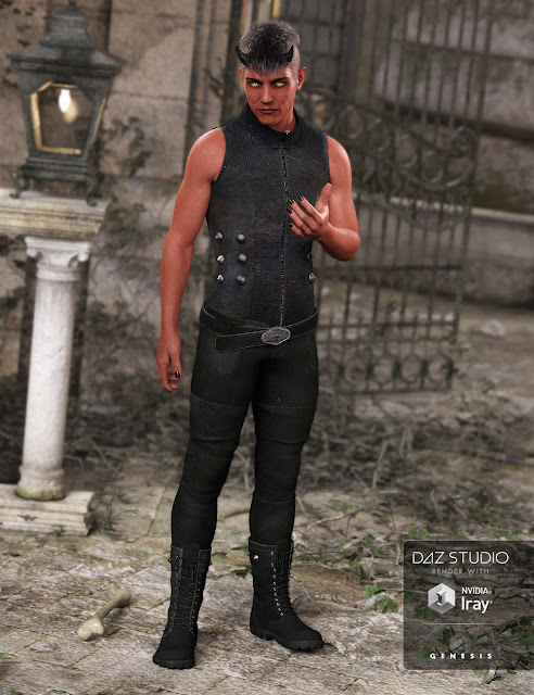 DAZ 3D - Bad Boy Outfit for Genesis 3 Male