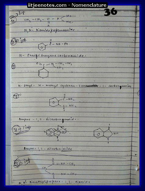 Nomenclature Notes IITJEE4