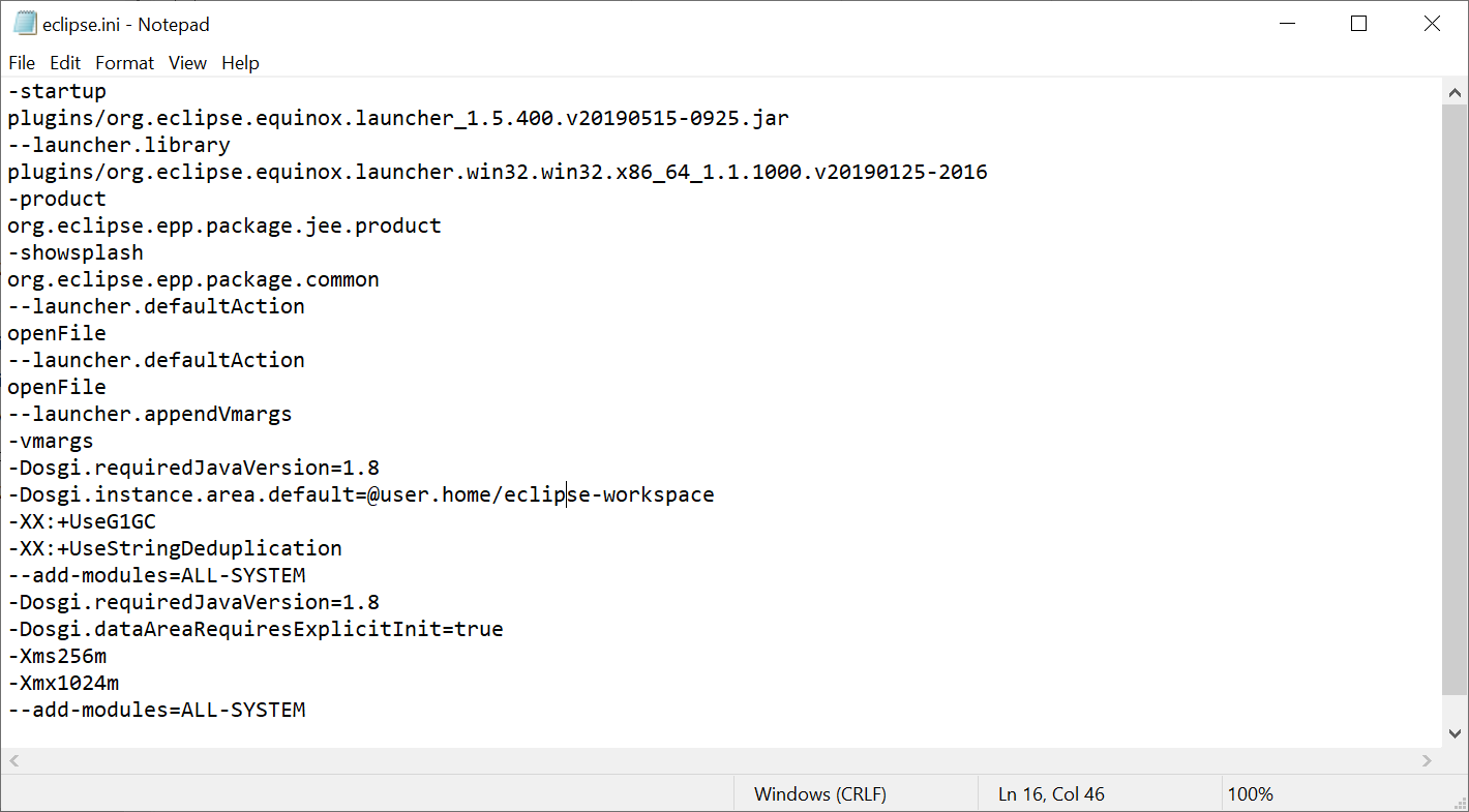 A JRE or JDK must be available in order to run Eclipse. No JVM was found after searching the following locations