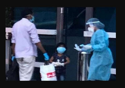 Das kleine Mädchen, Krebs geheilt wurde, besiegte Corona