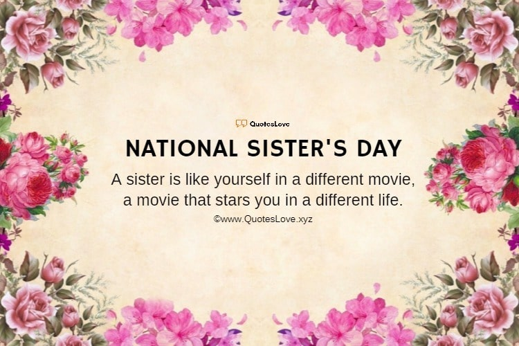 National Sister's Day Quotes, Sayings, Wishes, Greetings, Messages, Images, Pictures, Poster