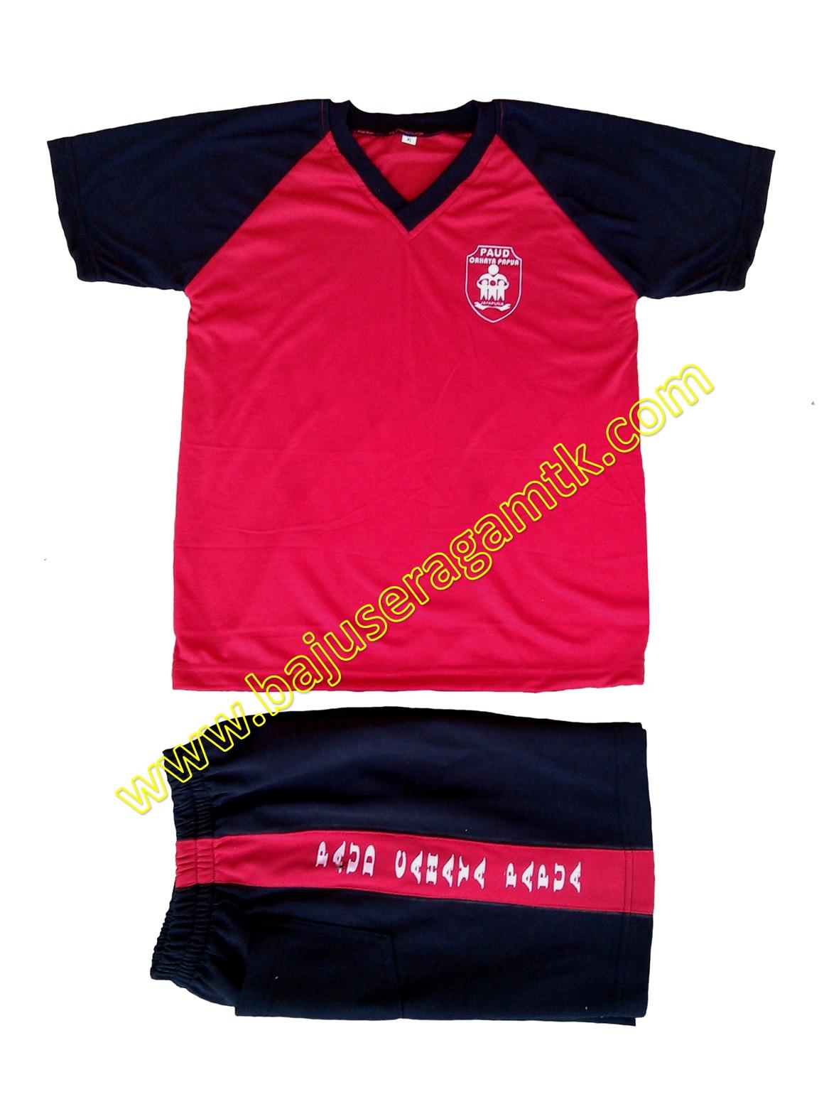 jual baju seragam TK PAUD model kaos olahraga anak tk