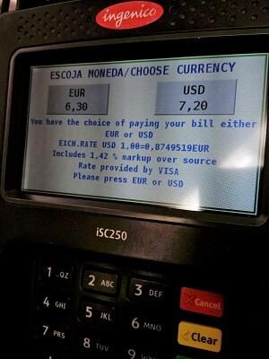 pagar en euros o dolares posnet europa dcc