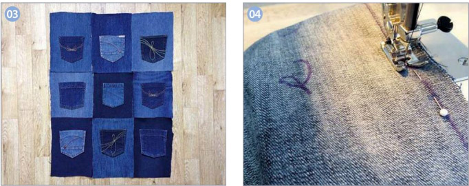 Tutorial for a Great Denim Pocket Organiser. How to make