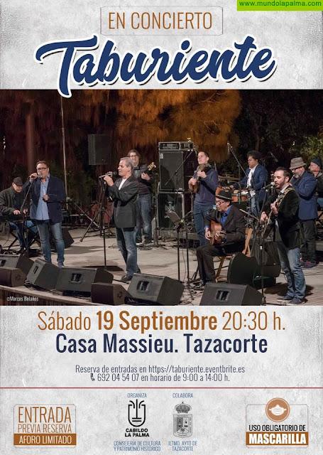 El Cabildo Insular organiza un concierto gratuito del grupo de folklore canario Taburiente