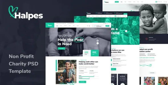 Best Non Profit Charity PSD Template