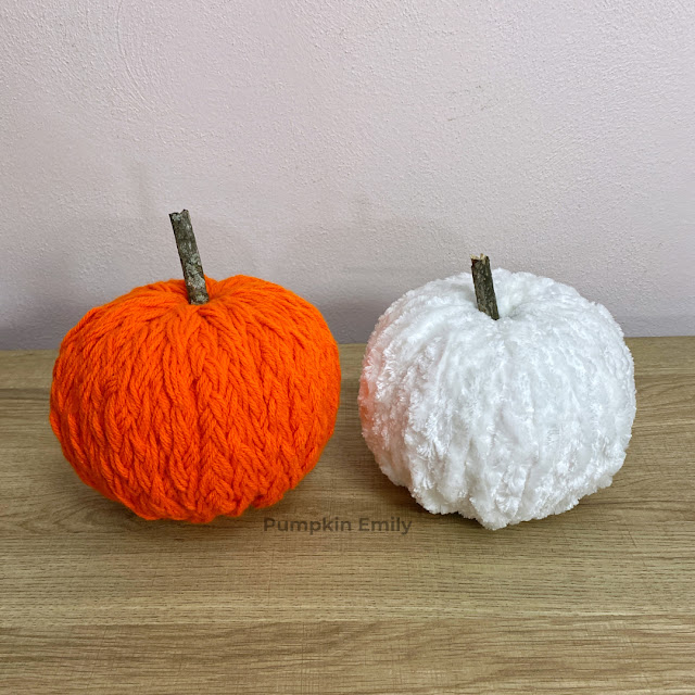 Two Easy DIY Yarn Pumpkins