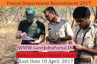 Forest Department Recruitment 2017– Forest Guard