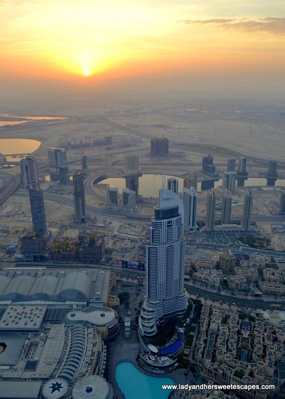 gorgeous sunrise in Dubai