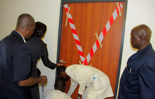 UPDATE | Police invade Jibrin's office, cart away documents