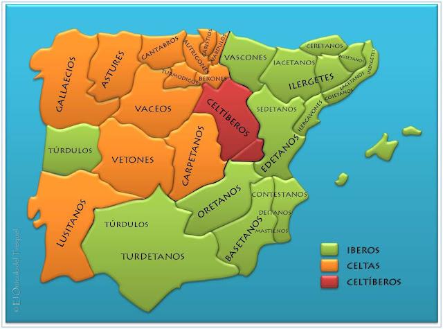 Celtas E Iberos Mapa.La Edad Antigua Mapas Celtas Iberos Y Celtiberos
