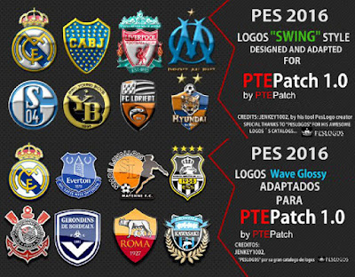 PES 2016 Logos Packs for PTEPatch Update 1.0 by PTEPatch