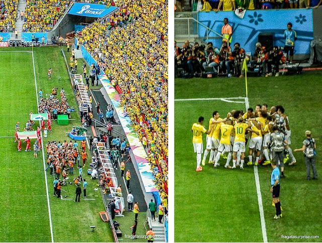 Jogo Brasil x Camarões, Copa de 2014, no Estádio mané Garrincha, em Brasília