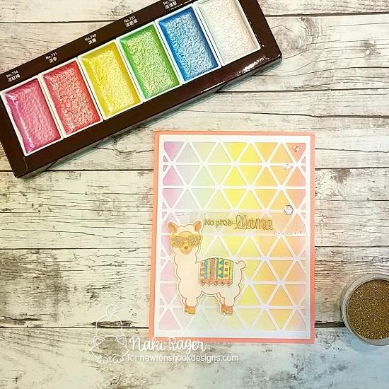 Llama Card by Naki Rager | Loveable Llamas Stamp Set by Newton's Nook Designs #newtonsnook #handmade #llama