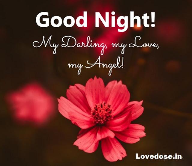 good night flower images for lover