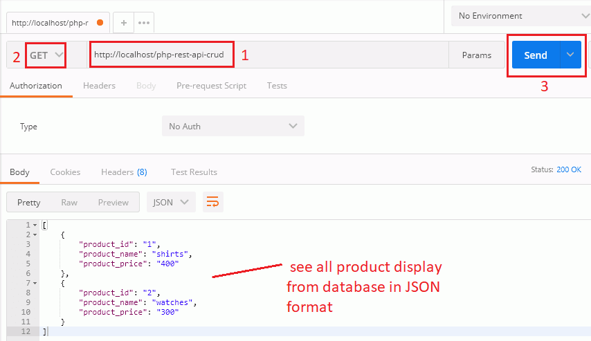 Fetch All Product Records from Database | PHP CRUD API Tutorial