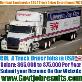 Reinhart Foodservice CDL A Truck Driver Recruitment 2021-22