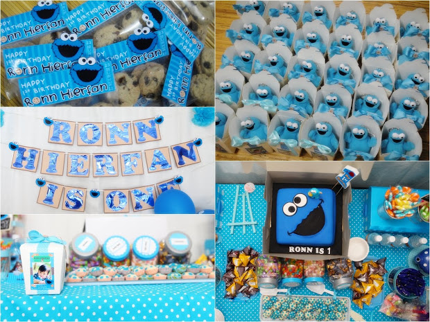 Dodie'sdesign Ronn' 1st Cookie Monster Birthday Party