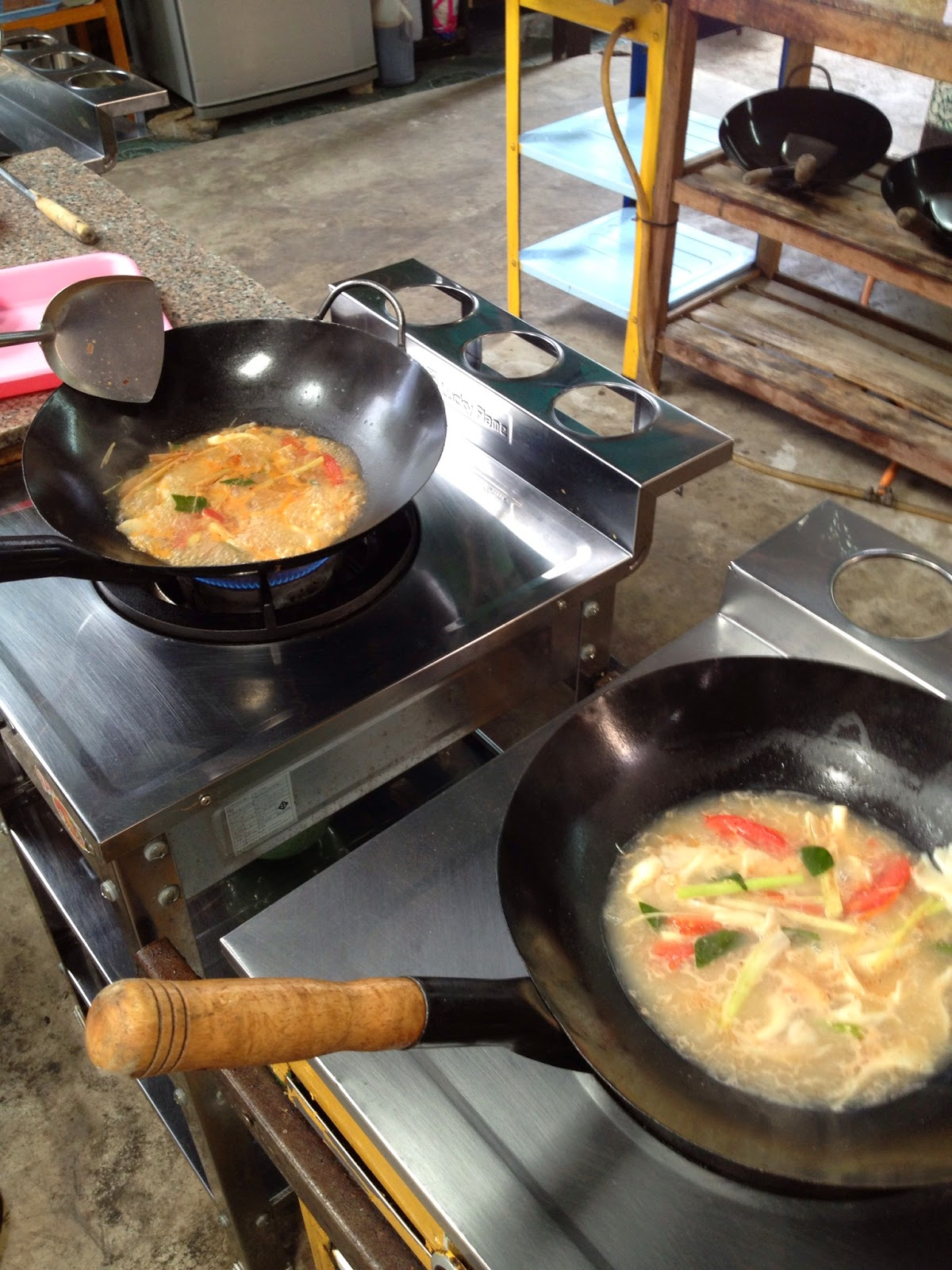 Chiang Mai - We got to control the spiciness of our Tom Yum Goong