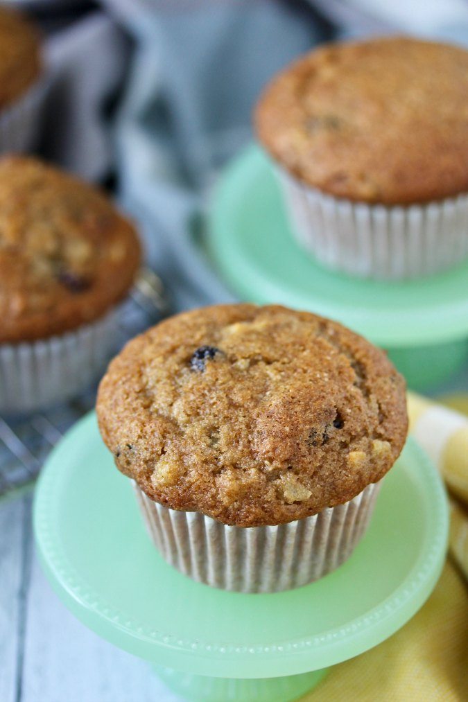 Apple Raisin Rye Muffins