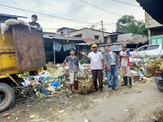DLH Labuhanbatu Cepat Tanggap Dengan Tumpukan Sampah Di Aek Nabara