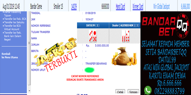 Jackpot Idn Poker Lagi di Situs Bandar Ceme Online Terpercaya Bandarbetqq