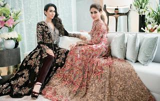 Kareena Kapoor with Karishma Kapoor bridal fashion on Cover page of HELLO India October 2016