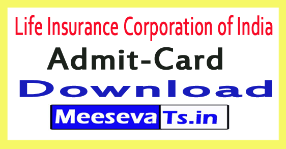 Life Insurance Corporation of India LIC Admit Card Download