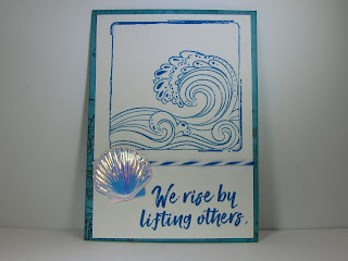 ATC CraftyColonel Donna Nuce using Club Scrap High Tide stamps and  Kit.