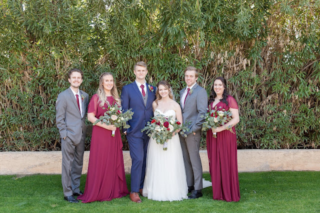 Portico Wedding bridal party portraits in Gilbert AZ by Micah Carling Photography