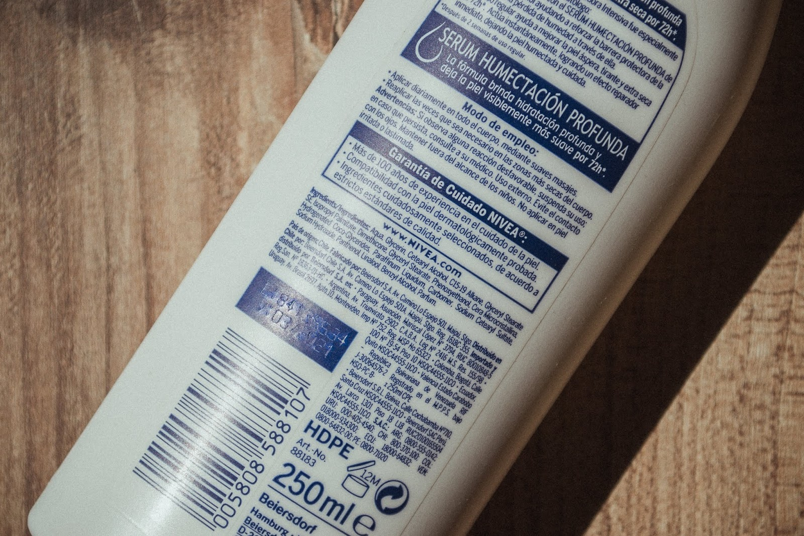 nivea  reparadora intensiva ingredientes