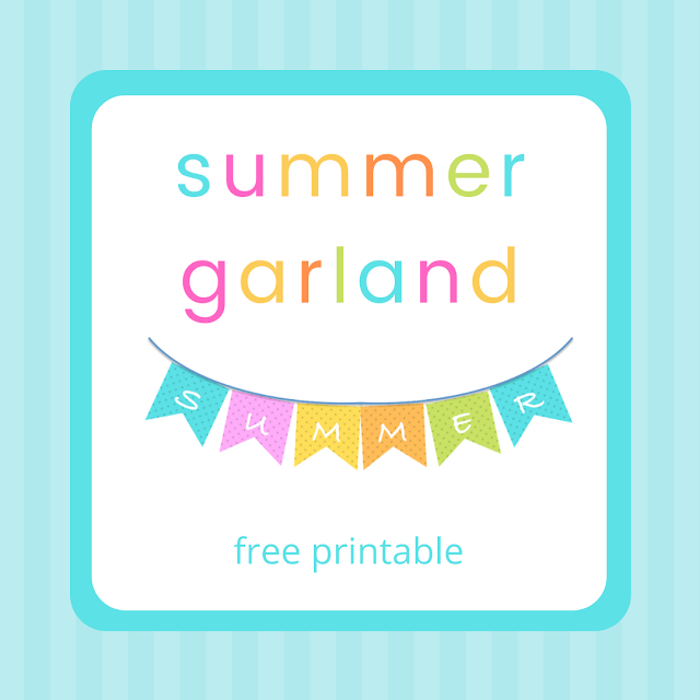 Colorful Summer Garland - free printable