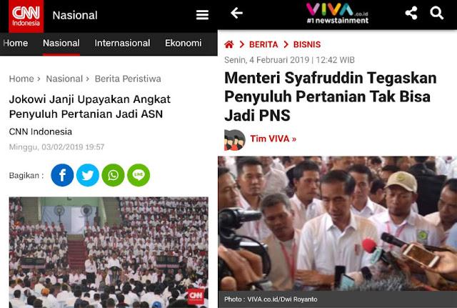 Jokowi Janji Upayakan Angkat Penyuluh Pertanian Jadi ASN, Namun Sang Menteri Bilang Begini