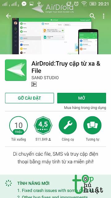AirDroid: Ứng dụng hữu ích để chia sẻ file giữa Android và máy tính dễ dàng