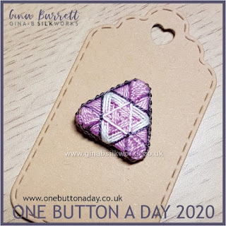 One Button a Day 2020 by Gina Barrett - Day 44 : Trine
