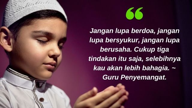 Kata-kata Bijak Jangan Lupa Berdoa