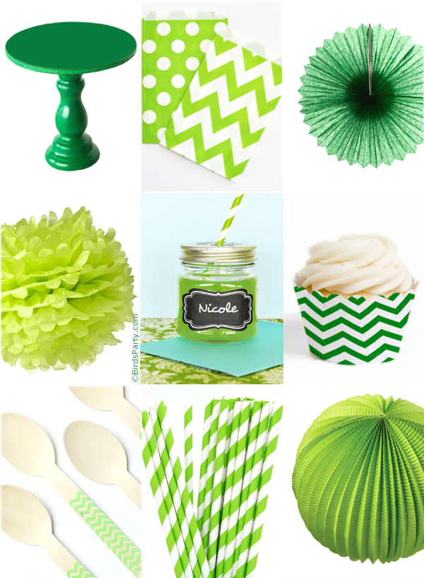 St Patrick's Day Green & White Party Ideas - BirdsParty.com